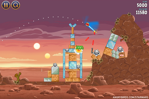 angry birds star wars, games