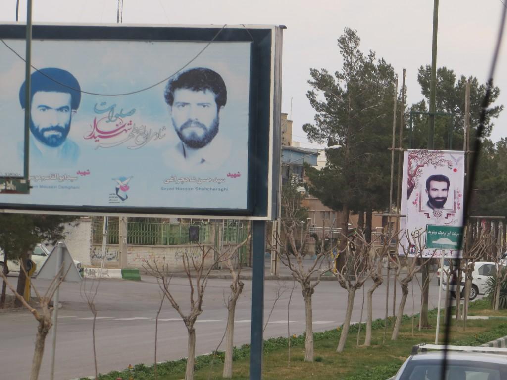 martelaars, affiches, iran