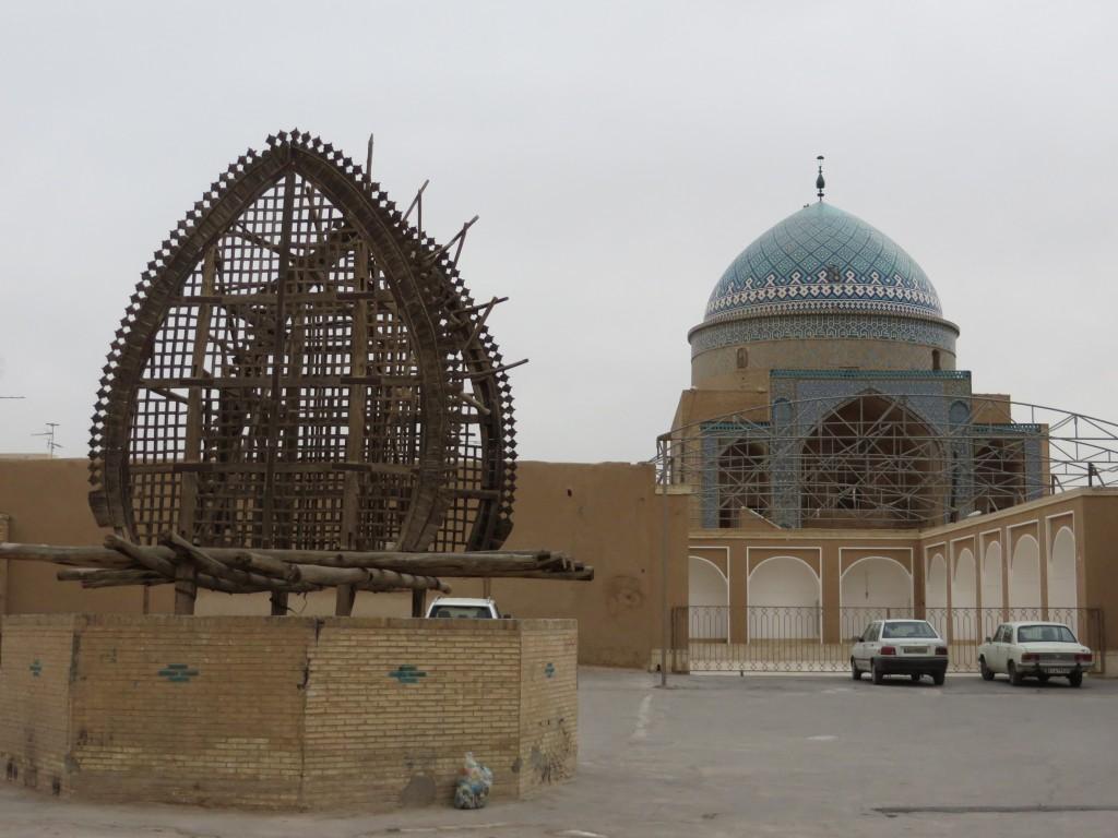 yazd, mausoleum, sjiieten, houten staketsel