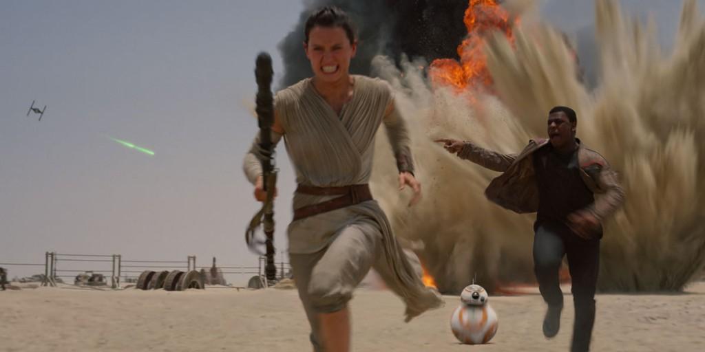 Star Wars, The Force Awakens, Rey, Finn, Jakku