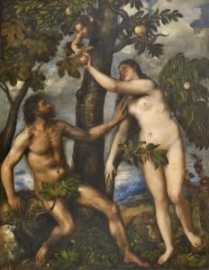 Adam, Eva, Titiaan